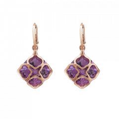 839563-5002|Buy Chopard IMPERIALE Cocktail Rose Gold Amethyst Earrings