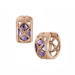 839564-5001  Buy Chopard IMPERIALE Lace Rose Gold Amethyst Earrings