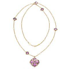 Chopard IMPERIALE Rose Gold Amethyst Diamond Pendant 819570-5001