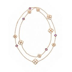 Chopard IMPERIALE Rose Gold Amethyst Necklace 819564-5001