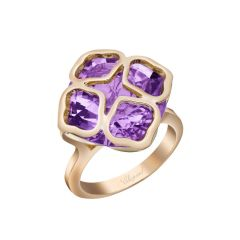 Chopard IMPERIALE Rose Gold Amethyst Ring Size 52 829726-5038