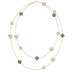 Chopard IMPERIALE Rose Gold Green Agate Necklace 819221-5001