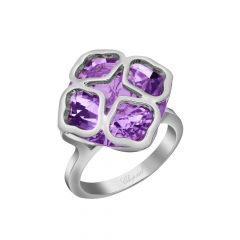 Chopard IMPERIALE White Gold Amethyst Ring Size 52 829726-1038