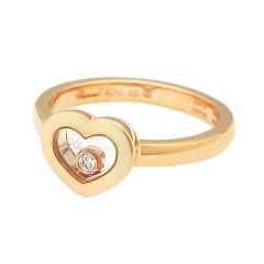 82A054-5110 | Buy Online Chopard Miss Happy Rose Gold Diamond Ring
