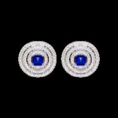 RGE648  Buy Online Graff Bullseye White Gold Sapphire Diamond Earrings
