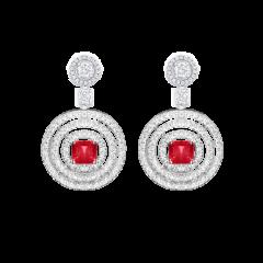RGE773   Buy Online Graff Bullseye White Gold Ruby Diamond Earrings