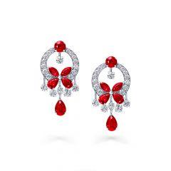 Graff Butterfly White Gold Ruby Diamond Earrings RGE603