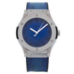 Hublot Berluti Titanium Scritto Ocean Blue 511.NX.050B.VR.BER16   Buy