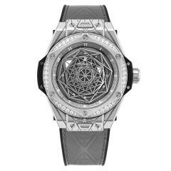 465.SS.7047.VR.1204.MXM20 | Hublot Big Bang Sang Bleu One Click Steel Grey Diamonds 39mm watch. Buy Online