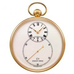 J080031000   Jaquet Droz Pocket Watch Ivory Enamel Yellow Gold 50 mm