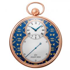 J080033047   Jaquet Droz Pocket Watch Paillonnee Red Gold 50 mm