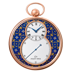 J080033040   Jaquet Droz The Pocket Watch Paillonnee Red Gold 50 mm