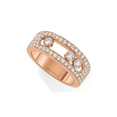 04703 | Move Move Joaillerie Pave Small Pink Gold Diamond Ring Size 54