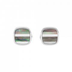 Montblanc Contemporary Striped Mother Of Pearl Cufflinks 109512