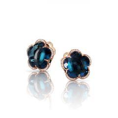Pasquale Bruni Bon Ton Rose Gold Topaz Diamond Earrings 15308R