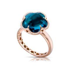15306R |Buy Online Pasquale Bruni Bon Ton Rose Gold Topaz Diamond Ring
