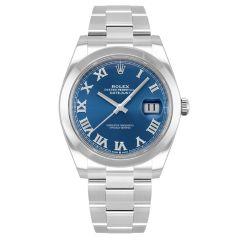 126300-0017 | Rolex Datejust Oystersteel Blue Dial 41mm watch. Buy Online