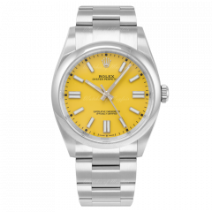 124300 | Rolex Oyster Perpetual Yellow Dial Oystersteel Bracelet 41 mm watch. Buy Online