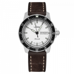 104.012 X115 | Sinn 104 St Sa I W Instrument Pilot Classic White Dial Brown Leather 41mm watch. Buy Online