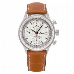 910.020 X141 | Sinn 910 SRS Chronographs-instruments White Dial Brown Leather 41.5 mm watch. Buy Online