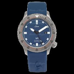 1010.0102 | Sinn U1 B Diving  Blue Dial Silicone  44mm watch. Buy Online