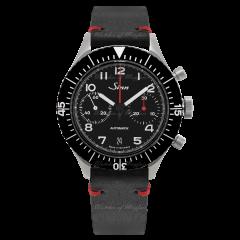 158.010 | Sinn 158 Instrument Chronographs Black Dial Leather 43mm watch. Buy Online