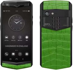 VERTU Aster P Gothic Titanium Black Calf Jade Black - Bamboo Green Alli BES Fee. Buy new authentic VERTU mobile phone in London, England, UK supplied from Official Retailer