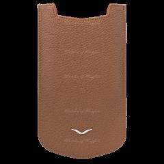 004-00004-002-02 | Vertu Aster P Slip Calf Caramel Brown Leather Case. Buy Online