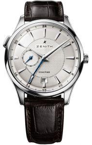 03.2130.682/02.C498 | Zenith Elite Dual Time 40 mm watch. Buy online.