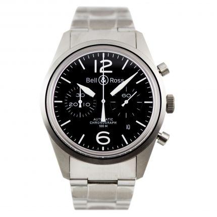 BRV126-BL-ST/SST   Bell & Ross BR 126 Original Black 41 mm watch