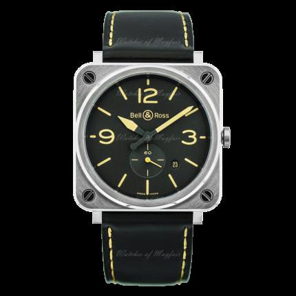 BRS-HERI-ST/SCA   Bell & Ross BR S Steel Heritage 39 mm watch. Buy Now