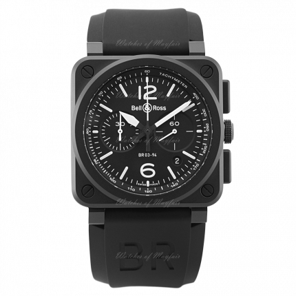 BR0394-BL-CE   Bell & Ross BR 03-94 Black matte 42 mm watch. Buy Now