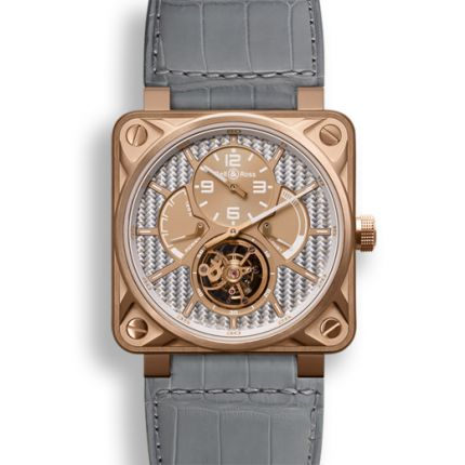 BR01-TOURB-PG/ALU | Bell & Ross BR 01 Tourbillon Pink Gold 46 mm watch