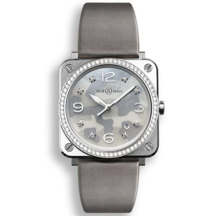 BRS-CAMO-ST-LGD/SF   Bell & Ross BR S Grey Camouflage Diamonds watch