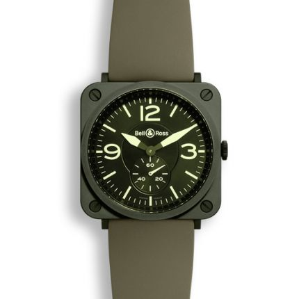 BRS-CERAM-MIL/SRB | Bell & Ross BR S Quartz Military Ceramic watch