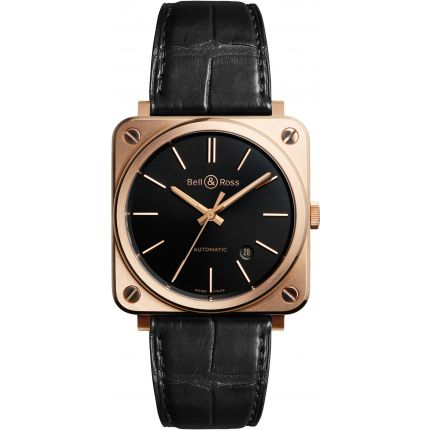 BRS92-BL-PG/SCR   Bell & Ross BR S Rose Gold 39 mm watch. Buy Now