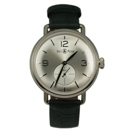 BRWW1-ME-AG-SI/SCR | Bell & Ross WW1 Argentium Silver 41 mm watch